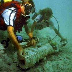 Underwater View of Swivel Gun