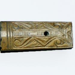 Detail of a razor sheath.