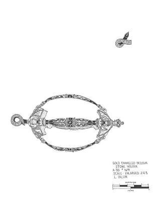 Artifact Drawing - Bezoar Stone Holder